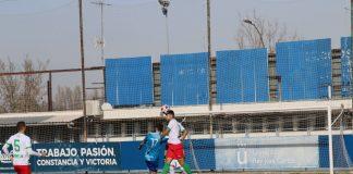 Imagen del último partido del Móstoles CF como local en El Soto